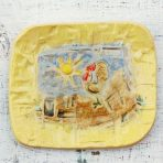 Barn Yard Scene Little Anything Dish in Yellow