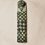 Elegant Black & White Lace Impressed Incense Holder