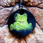 Frog Stamp Pendant