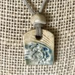 Beachy Pendant in Water Blue & Beige