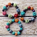 Chunky Coloured Word Bracelets