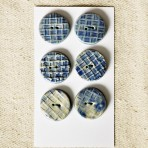 Ultramarine Blue Textured Stoneware Buttons