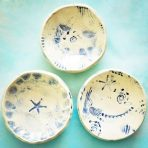 Ocean Inspired Catch All Bowls in blue and White