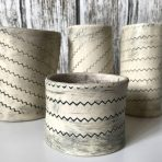 Zigzag Vases/Holders – Set of 4