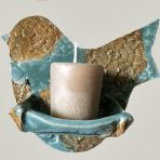 Bird-shaped wall votive/soap holder