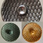 Round Incense Holders – Honeycomb Texture