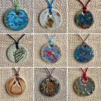 Assorted Glazed Large Stoneware Pendants