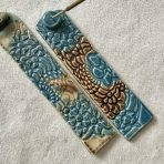 Brown & Blue Lace Incense Holder