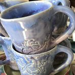 Tapered Mug – Blue/Purple Lace