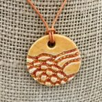 Orange & Red Lace Pendant – Round