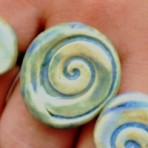 Chunky Spiral Ring in Blue