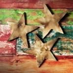 Rustic Pit Fired Star Wall Hanging
