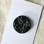 Black Stoneware Buttons with Stars