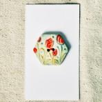 Hexagonal Tulip Button