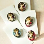 Romantic Hand Painted Cameo Pin