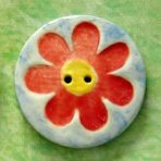 Large Flower Button – Red, Yellow & Blue