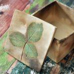 Pit fired Leaf Box – Medium – Manitoba Maple