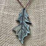 Oak Leaf Pendant – Green