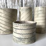 Zigzag Vases/Holders – Set of 4