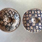 Round Incense Holder – Circles & Flowers Pattern