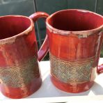 "Mug – 5"" Celtic Knot work – Cinnabar"