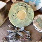 Dragonfly Mirror – 5″ Green Celadon