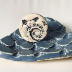Sea Shell Ring in Blue
