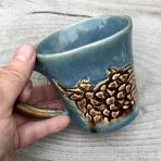 Tapered Mug – Brown & Blue Lace – Short