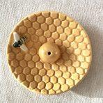 Honey Bee Round Incense Holder