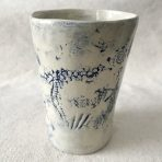 Delft Blue & White Ocean Themed Tumbler (tall)