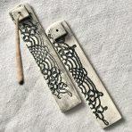 Black & White Lace Incense Stick Holder