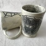 Tall Tapered Spider Web Mug
