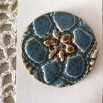 Jumbo Brown & Blue Lace Button